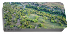 aerial view of Dismal River in Nebraska Sandhills Portable Battery Charger