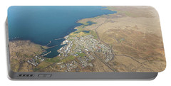 Aerial View Of Iceland South Coast  Portable Battery Charger
