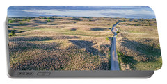 aerial view of Nebraska Sandhills  Portable Battery Charger