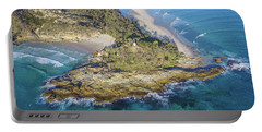 Aerial View Of North Point, Moreton Island Portable Battery Charger