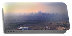 Aerial View - Philadelphia's Stadiums With Cityscape  Portable Battery Charger