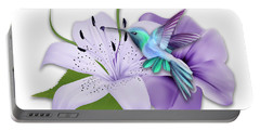 Portable Battery Charger featuring the mixed media Aeronautical by Marvin Blaine