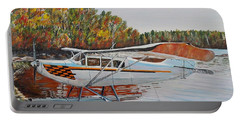 Portable Battery Charger featuring the painting Aeronca Super Chief 0290 by Marilyn  McNish