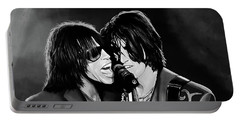 Aerosmith Toxic Twins Mixed Media Portable Battery Charger by Paul Meijering