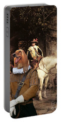 Afghan Hound-at The Tavern Canvas Fine Art Print Portable Battery Charger