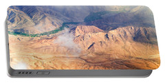 Afghan Valley At Sunrise Portable Battery Charger