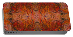 Aflame With Flower Quad Hotwaxed Version Of Acrylic/watercolour Portable Battery Charger
