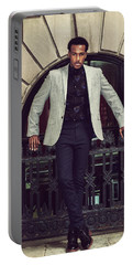 African American Businessman Working In New York Portable Battery Charger