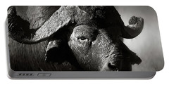 African Buffalo Bull Close-up Portable Battery Charger