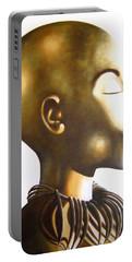 African Elegance Sepia - Original Artwork Portable Battery Charger