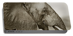African Elephant Profile  Duotoned Portable Battery Charger