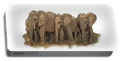 African Elephants 2 Portable Battery Charger