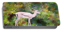 Portable Battery Charger featuring the painting African Endangered Species by Judy Kay