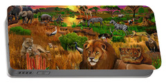 African Evening Portable Battery Charger