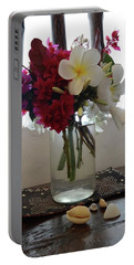 African Flowers And Shells Portable Battery Charger
