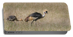 African Grey Crown Crane Portable Battery Charger