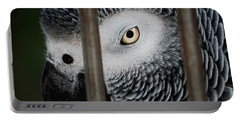 African Grey Portable Battery Charger by Robert Meanor