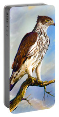 African Hawk Eagle Portable Battery Charger by Anthony Mwangi