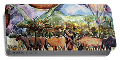 African Herdsmen Portable Battery Charger by Bankole Abe