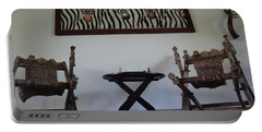 African Interior Design 1 Portable Battery Charger