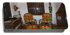 African Interior Design 5 Beaded Chairs Portable Battery Charger