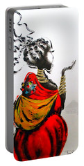 African Lady And Baby Portable Battery Charger