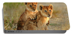 African Lion Cubs Portable Battery Charger