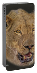 African Lioness Tee Portable Battery Charger