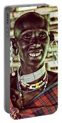 African Maasai Teacher Portable Battery Charger