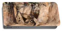 Portable Battery Charger featuring the photograph African Rhino by Donna Brown