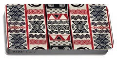 African Tribal Ritual Design Portable Battery Charger by Vagabond Folk Art - Virginia Vivier