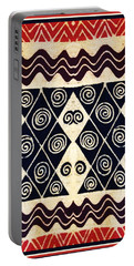 African Tribal Textile Design Portable Battery Charger by Vagabond Folk Art - Virginia Vivier