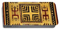 Portable Battery Charger featuring the digital art African Tribal Spirits by Vagabond Folk Art - Virginia Vivier