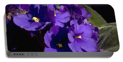Portable Battery Charger featuring the photograph African Violets by Phyllis Denton