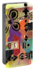 Afro Collage - H Portable Battery Charger