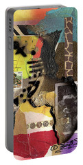 Afro Collage - K Portable Battery Charger