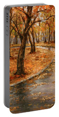 After Rain,walk In The Central Park Portable Battery Charger