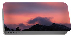 Portable Battery Charger featuring the photograph After Sunset - Panorama by Shane Bechler
