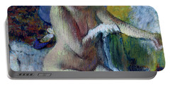 After The Bath Portable Battery Charger by Edgar Degas