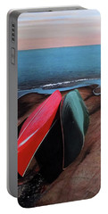 Portable Battery Charger featuring the painting After The Crossing by Kenneth M Kirsch
