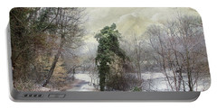 After The First Snowfall Portable Battery Charger by John Rivera