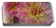 After The Rain - Dahlias Portable Battery Charger by Dora Sofia Caputo Photographic Art and Design