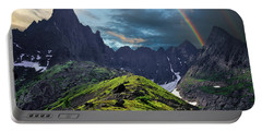 After The Rain Storm Portable Battery Charger by Vladimir Kholostykh