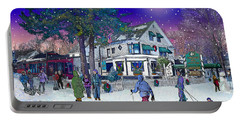 After The Storm At Woodstock Inn Portable Battery Charger by Nancy Griswold