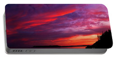 Portable Battery Charger featuring the photograph After The Storm Sunset by Alana Ranney