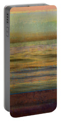 Portable Battery Charger featuring the photograph After The Sunset - Teal Sky by Michelle Calkins