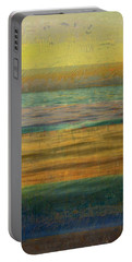 Portable Battery Charger featuring the photograph After The Sunset - Yellow Sky by Michelle Calkins