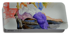 Portable Battery Charger featuring the painting After Work by Beverley Harper Tinsley