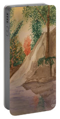 Portable Battery Charger featuring the painting Afternoon At The Creek by Maria Urso