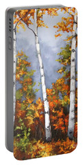Afternoon Birches Portable Battery Charger